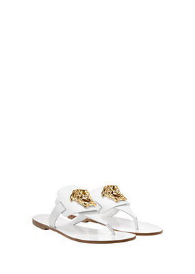 Versace Women Palazzo Flat Thong Sandals
