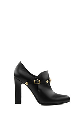 Versace Women Signature Leather Bootie
