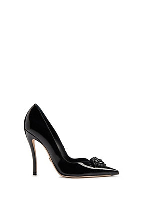 Versace Palazzo patent leather pumps