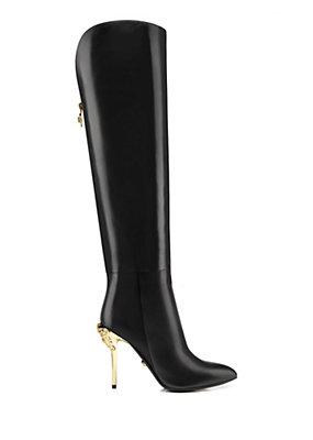Versace Women Palazzo Heel Tall Boots