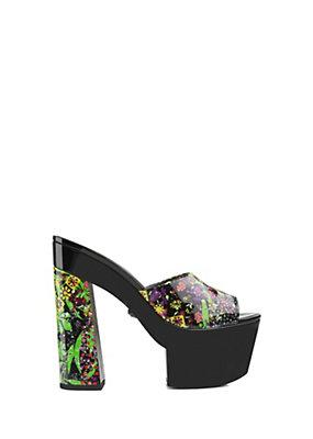 Versace Donna Zoccoli aperti Floral Patch