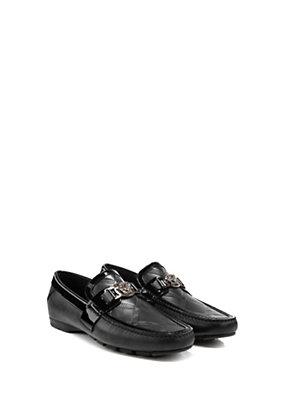 Versace Men Men Greca Embossed Driver Shoes