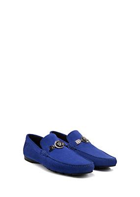 Versace Men Men Suede Signature Driver Shoes