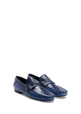 Versace Men Men Printed Croc Palazzo Driver Shoe