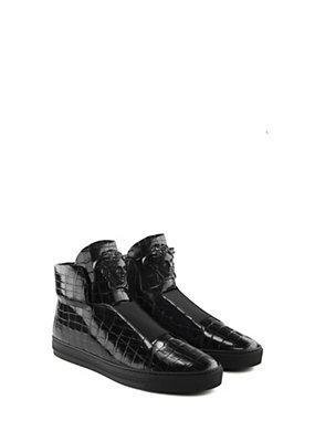 Versace Uomo Sneaker alte effetto Coccodrillo