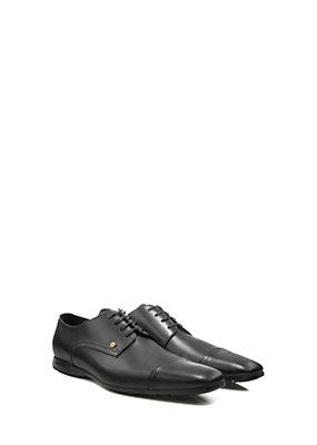 Versace Men Men Calf Leather Square Toe Oxfords