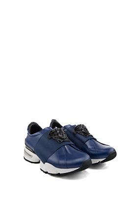 Versace Uomo Sneakers in pelle e fascia elastica