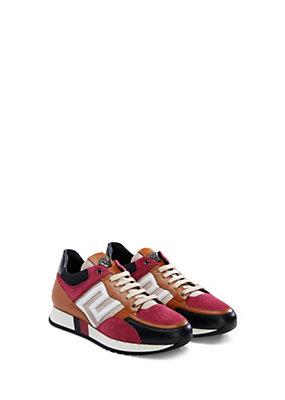Versace Men Men Calfskin Greca Running Shoe