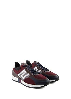Versace Uomo Sneakers i in pelle e camoscio