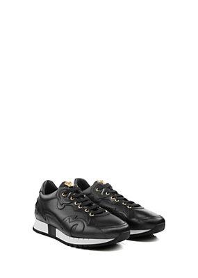 Versace Uomo Sneaker con lacci in pelle e tela