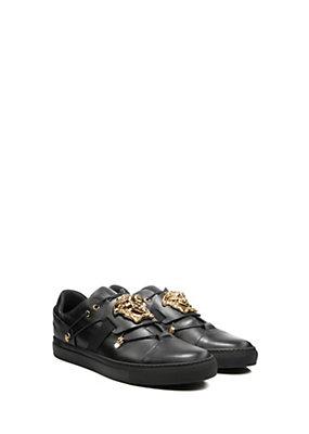 Versace Men Men Palazzo Medusa Head leather sneaker