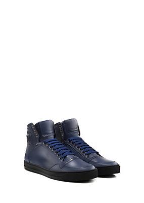 Versace Uomo Sneaker alte in pelle con lacci