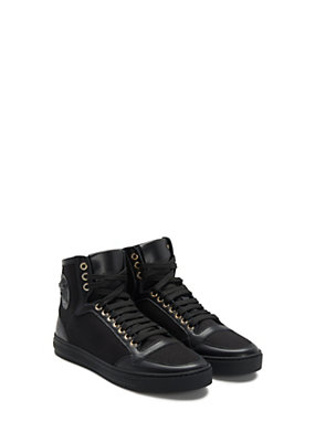 Versace Men Men Medusa canvas and leather sneakers
