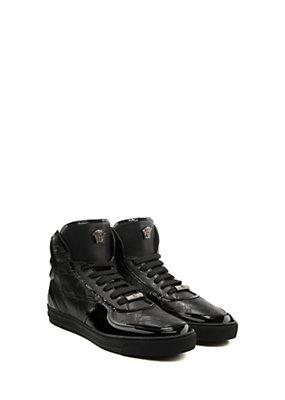 Versace Uomo Sneaker alte con Greca in rilievo