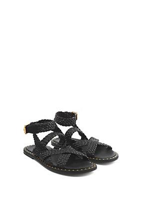 Versace Men Men Woven Leather Strap Sandals