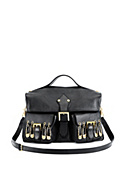 Versus Versace Women LARGE LEATHER BAG WITH SAFETY PINS