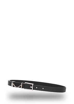 Versus Versace Women Chain buckle leather belt