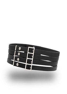 Versus Versace Women Quad buckle leather belt
