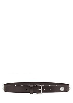 Versus Versace Women Lion Head Stud Leather Belt