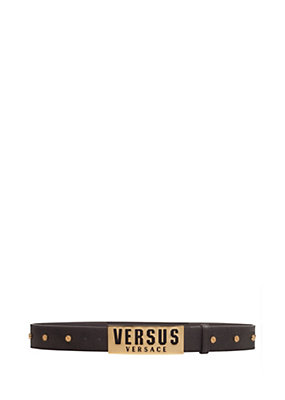 Versus Versace Men LOGO BAR BUCKLE STUDDED BELT