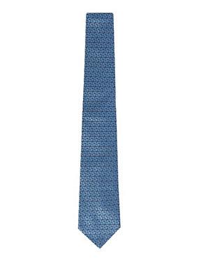 Versace Men Men Greca Woven Silk Tie