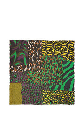 Versace Donna Foulard con stampa Patch Animalier