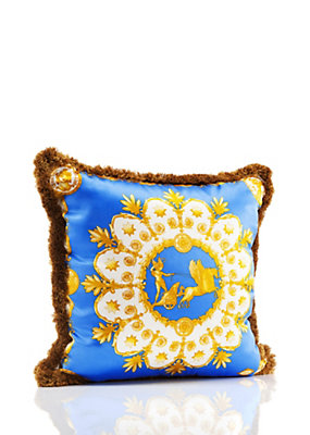 Versace Home Collection Apollo Cushion - Blue/Black