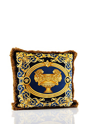 Versace Home Collection Le Vase Baroque Cushion - Red/Blue