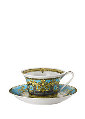 Versace Home Collection Prestige Gala Bleu 2 teacup set