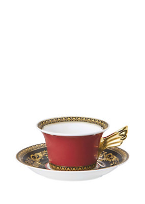 Versace Home Collection Medusa Tea Cup & Saucer