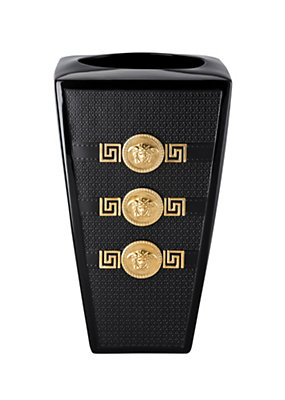 Versace Home Collection Signature Black Vase 32 cm