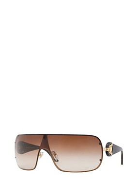 Versace Women Brown Metal Visor Sunglasses
