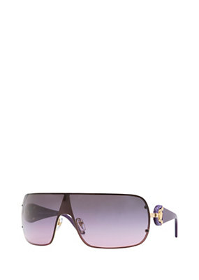 Versace Women Purple Metal Visor Sunglasses