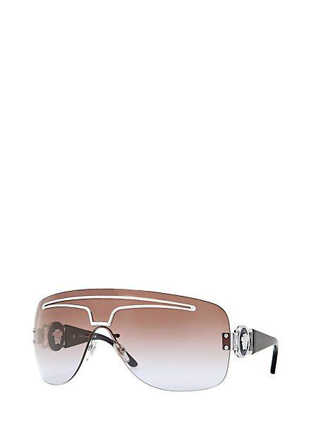 Versace Metal Sunglasses Metal Visor Sunglass Versace