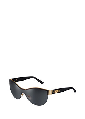 "Versace Women ""Signature"" black Visor Sunglasses"