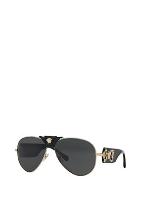 Versace Men Men Black Medusa Sunglasses