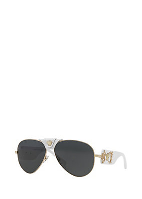 Versace Men Men White Medusa Sunglasses