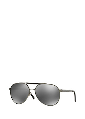 Versace Men Men Grey Mirror Pilot Shades