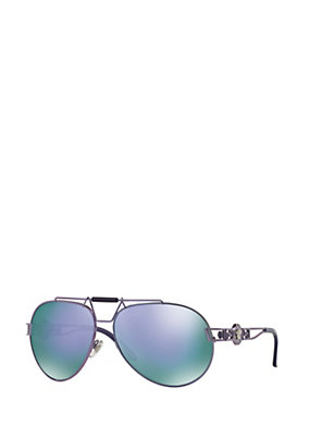 Versace Women Signature Pilot Sunglasses