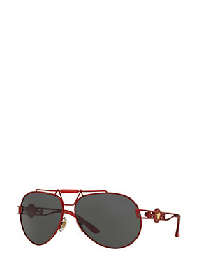 Versace Men Men Pilot Red Signature Sunglasses