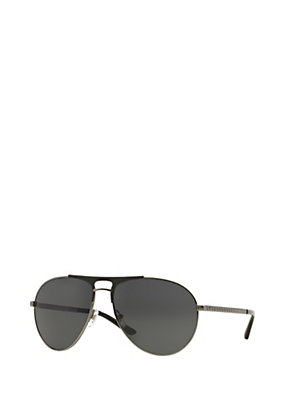 Versace Men Gunmetal pilot sunglasses