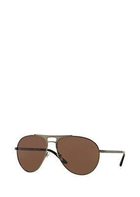 Versace Men Men Gold Pilot Greca Sunglasses