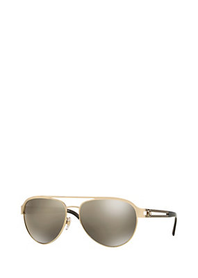 Versace Women Light gold pilot sunglasses