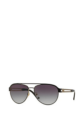 Versace Women Black and gold pilot sunglasses