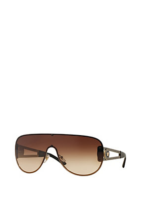 Versace Men Men Vintage Vanitas Brown Sunglasses