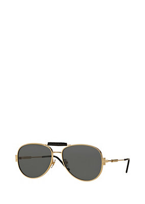 Versace Men Men Logo Black and Gold Sunglasses