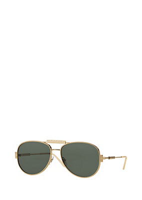 Versace Men Men Logo Green and Gold Sunglasses