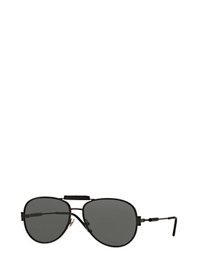 Versace Men Men Versace Logo Black Sunglasses