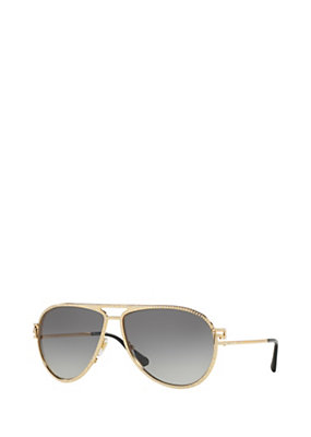 Versace Women Greca Stars Gold Sunglasses