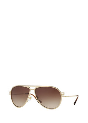 Versace Women Greca Stars Golden Sunglasses